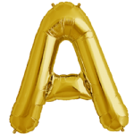 "34"" Gold Letter A Foil Balloon"
